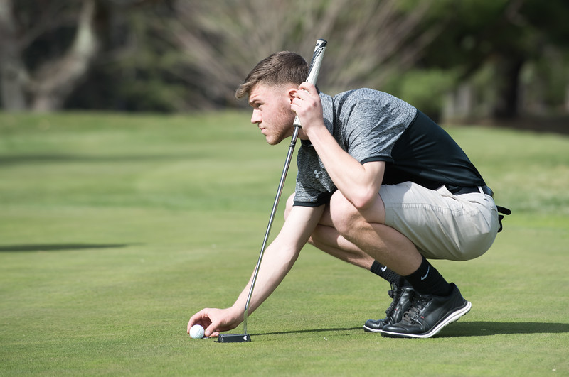 04/24/18  Wesley Bunnell | Staff<br /> <br /> Terryville boys golf team competed against Gilbert and Wamogo at Pequabuck Golf Club on Tuesday afternoon. Mike Hills