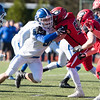 11/23/17  Wesley Bunnell | Staff<br /> <br /> Southington football topped Cheshire on Thanksgiving morning in the Apple Valley Classic at Cheshire High School. DL Ryan Gavronski (96).