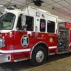 4/1/2015 Mike Orazzi | Staff<br /> Terryville's newest fire truck Engine 2 at HQ on Wednesday.