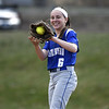 4/13/2018 Mike Orazzi | Staff<br /> Bristol Eastern's Taylor Keegan (6) during Friday's softball with Enfield in Bristol.