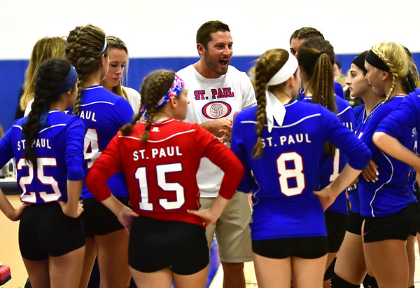 St Paul girls volleyball 10-8-18