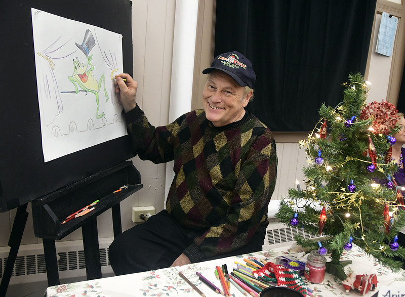 12/3/2016 Mike Orazzi   Staff Cortlandt Hull sketches during the 10th Annual Holiday Craft Fair held at the Bristol Historical Society Saturday.