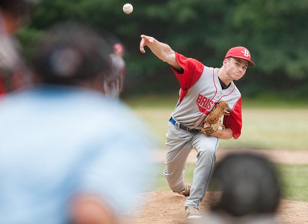 06/18/18  Wesley Bunnell | Staff  Bristol Legion 17U pitcher Kyle Lauretti (22).