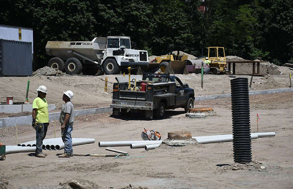 6/19/2018 Mike Orazzi | Staff Construction continues on the Centre Sqaure access road in downtown Bristol.