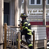 3/29/2017 Mike Orazzi | Staff<br /> Thursday afternoon may have been fire caused by an alleged drug factory explosion on Harrison Street.