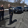 3/29/2017 Mike Orazzi | Staff <br /> Farmington Police blocking the entrance to the Metacomet trail off Route 6 as Connecticut State Police search the area for a missing hiker with dogs and the use of drone Wednesday morning.