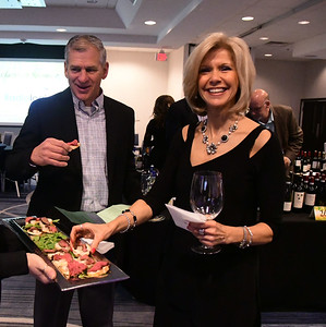 4/1/2017 Mike Orazzi | Staff Gary Sassu and Rita Joy during the Bristol Hospital Development Foundation's Festival of Wines & Spirits held at the DoubleTree by Hilton in Bristol Saturday night. The money raised this year will go toward a future renovation project at the hospital's Emergency Center.