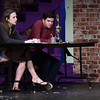 4/28/2017 Mike Orazzi | Staff<br /> Bristol Eastern's Fiona Pare and Alex Mika while rehearsing for the play 25th Annual Putnam County Spelling Bee on Friday.