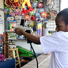 4/29/2017 Mike Orazzi | Staff<br /> A.J. Garner plays a shooting game during the United Way carnival in downtown Bristol Saturday.
