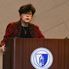 030117  Wesley Bunnell | Staff<br /> <br /> CCSU held an informative panel titled Uncertainty around Immigration Law on March 1. CCSU President Dr. Zulma Toro gives an opening remark.