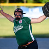 062617  Wesley Bunnell | Staff<br /> <br /> Bristol defeated Berlin on Monday evening in Plainville to claim the Little Leage District 5 Softball Championship. Bristol pitcher Ashley Serafin (11).