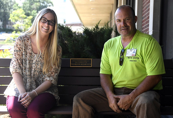 6/27/2017 Mike Orazzi | Staff Ingraham Manor Employee of the Year secretary Brittany Peterson and Bristol Hospital Employee of the Year mechanic and groundskeeper Steven Oakes.