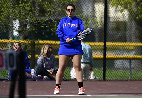 5/4/2017 Mike Orazzi | Staff St. Paul's Sophia Penisse during Thursday's match with Woodland High School.