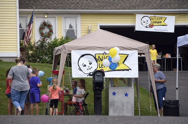 7/15/2017 Mike Orazzi | Staff Nico's Lemonade Stand  fundraiser on Northwest Drive in Plainville Saturday.