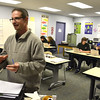 1/27/2016 Mike Orazzi | Staff<br /> Bristol Adult Ed journalism teacher Brian Reardon during class Wednesday night.