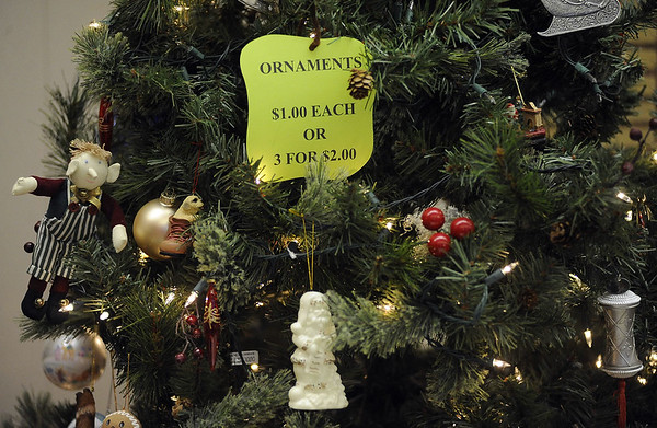 12/19/2015 Mike Orazzi   Staff Items for sale during the Bristol Historical Society's annual sale of Christmas gifts and decorations on Saturday.