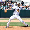 042716   Wesley Bunnell   Staff<br /> <br /> The New Britain Bees defeated the visiting Long Island Ducks 5-2 on Wednesday April 27th. A special 10:30 start time was held to accommodate several thousand local school students. Bees pitcher #23 Nick Greenwood.