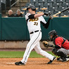 042617  Wesley Bunnell   Staff<br /> <br /> New Britain Bees vs Lancaster Barnstormers on Wednesday evening. Jon Griffin (33)