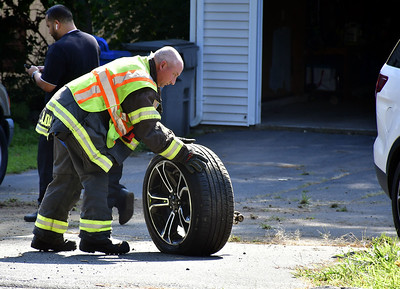 8/16/2019 Mike Orazzi | Staff The scene of a one-vehicle crash in the 300 block of Brook Street in Bristol on Friday. Three were transported from the scene.