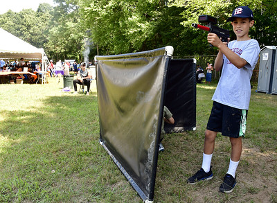 8/16/2019 Mike Orazzi | Staff Charlie Levin while playing laser tag during the Bristol Boys & Girls Club's Family Day at Cambridge Park on Friday morning.