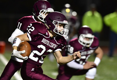 11/2/2018 Mike Orazzi | Staff Bristol Central's Victor Rosa (22)  during Friday night football with Platt in Bristol.
