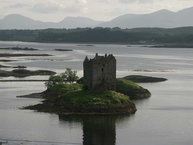 After exiting Glen Coe, we headed south.  Here we pass the dramatic Castle Stalker.  It is now a private summer cottage.