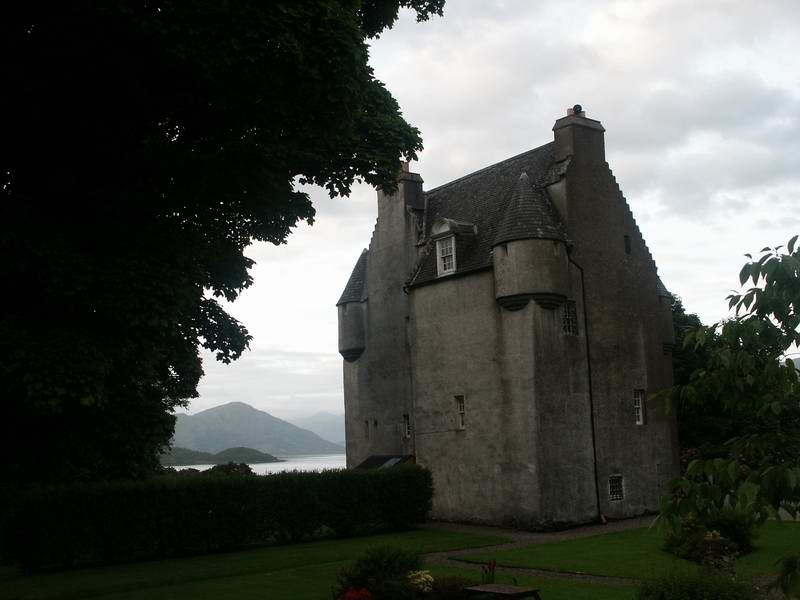 Our first night in Scotland was spent here, at Barcaldine Castle.  A very nice little castle with a great location and a friendly innkeeper.