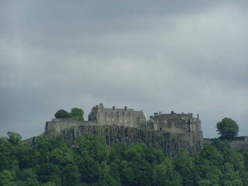 "This is the spectacular Sterling Castle from the ""motorway."""