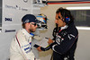 Friday, July 4, 2008  British Grand Prix  Silverstone, England, BMW Sauber F1 Team driver Nick Heidfeld (GER) talks with his race Engineer. This image is copyright free for editorial use © BMW AG.