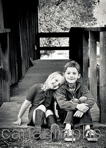 Kids on Barn Ramp BW-1