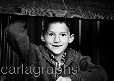 Jake Posing at the Barn bw-1
