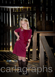 Kate Posing in Barn-1