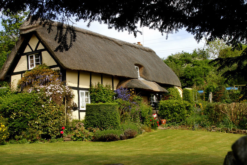 A 'chocolate box' cottage on the Worcestershire/Herefordshire border.