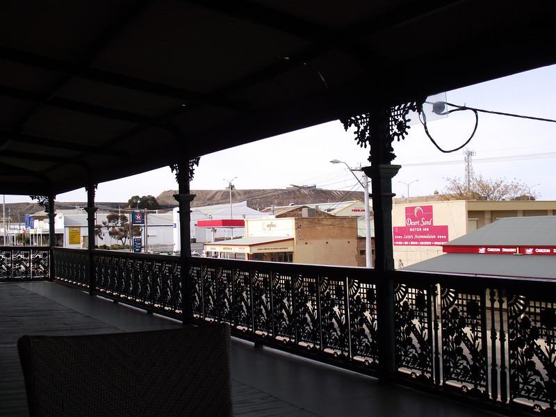 From the Imperial's verandah Broken Hill NSW