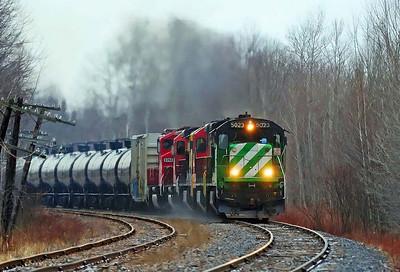 Montreal Maine & Atlantic, crude oil #606, Bromont Qc
