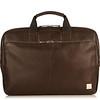 Newbury Leather Zip Briefcase 55-256-BRN