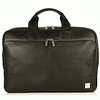 Newbury Leather Zip Briefcase 155-256-BLK