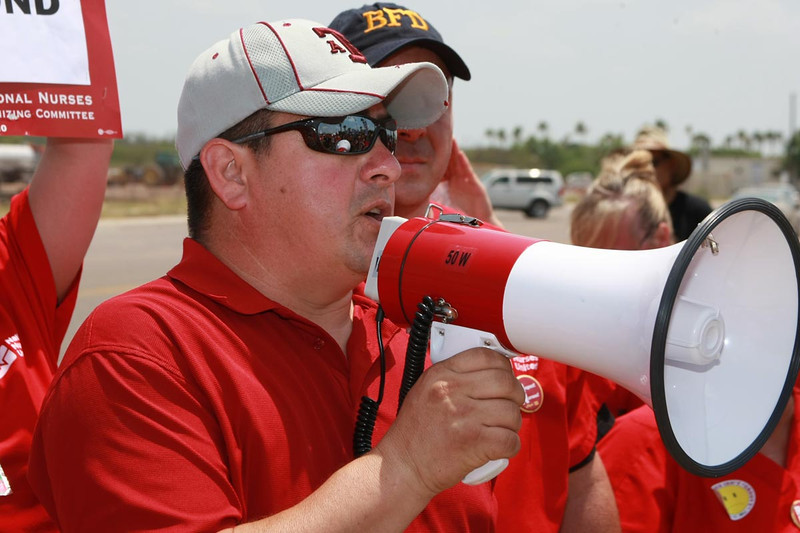 Phillip, President of CWA local 6226 also offered his union's support