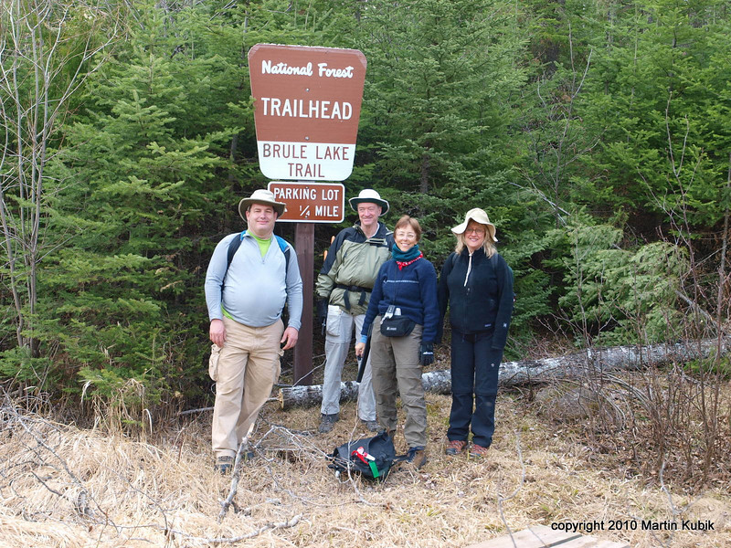 Saturday at 8:30 am we start from the west Brule Lake Trail (BLT) trail head.