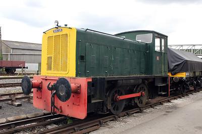 Ruston & Hornsby 0-4-0DE 425477 Bucks Railway Centre 14/08/11.