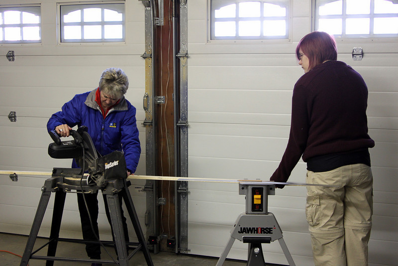 The girls and power tools