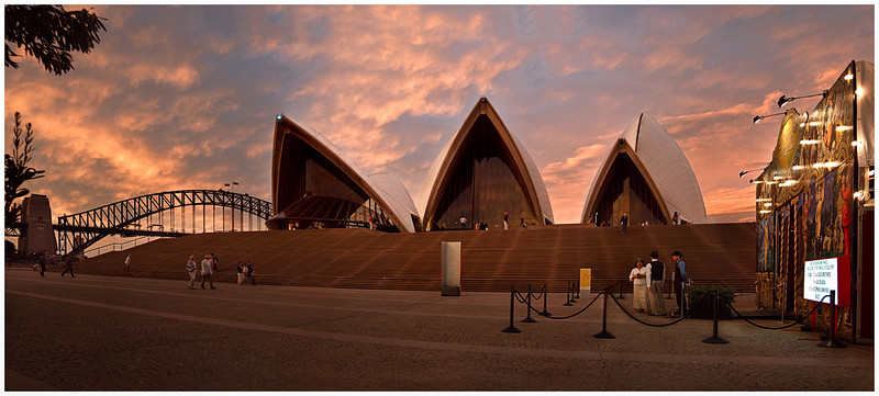 The Sydney Opera House and the Spiegeltent