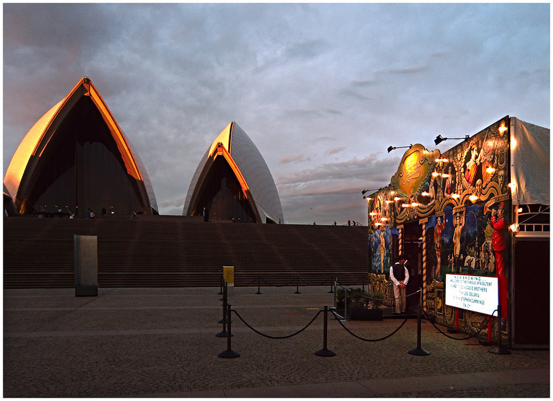 Spiegeltent and Opera House, Sydney