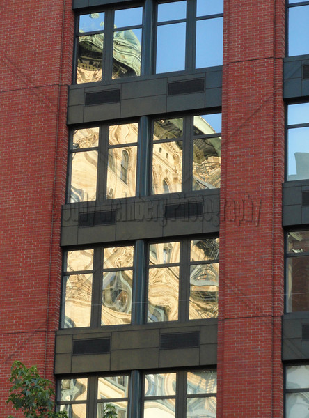 Building Reflected in Building on Houston St. NYC