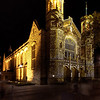 Northern Lights / Bonython Hall from 3 exposures @ 2 stops apart.
