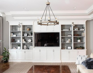 white-living-room-tv-cabinets-shelves-backs-painted-gray
