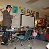 Steve Bunn, Bulb webmaster,  talks to Sugar Hill 1st & 5th grade classes.