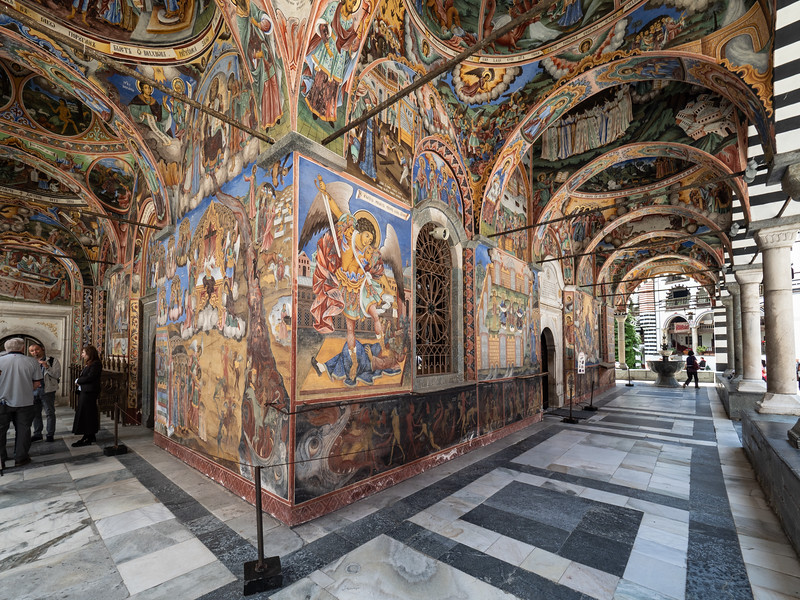 19C Murals on the Porch of The Church of the Nativity