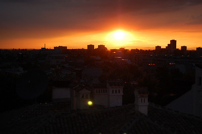 After a really heavy storm in Plovdiv the sun breaks through.