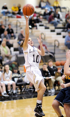 Don Knight / The Herald Bulletin<br /> Lapel's Natalia Campell shoots as the Bulldogs hosted Shenandoah on Saturday.